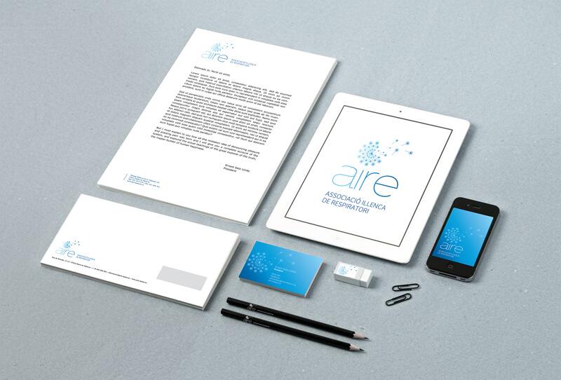 brand - identidad corporativa aire, associacio illenca de respiratori