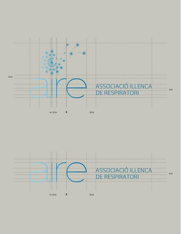 Aire Balears - reticula del logotipo 1