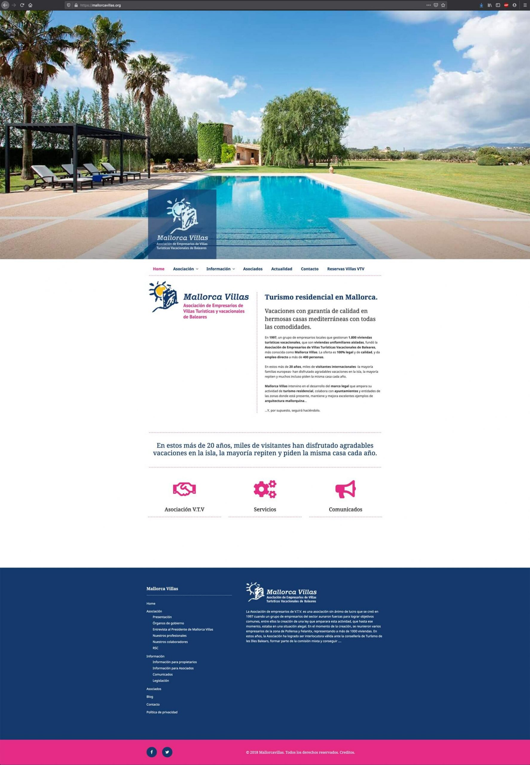 Diseño-web-mallorcavillas.org - Asociación Villas Turisticas Mallorca