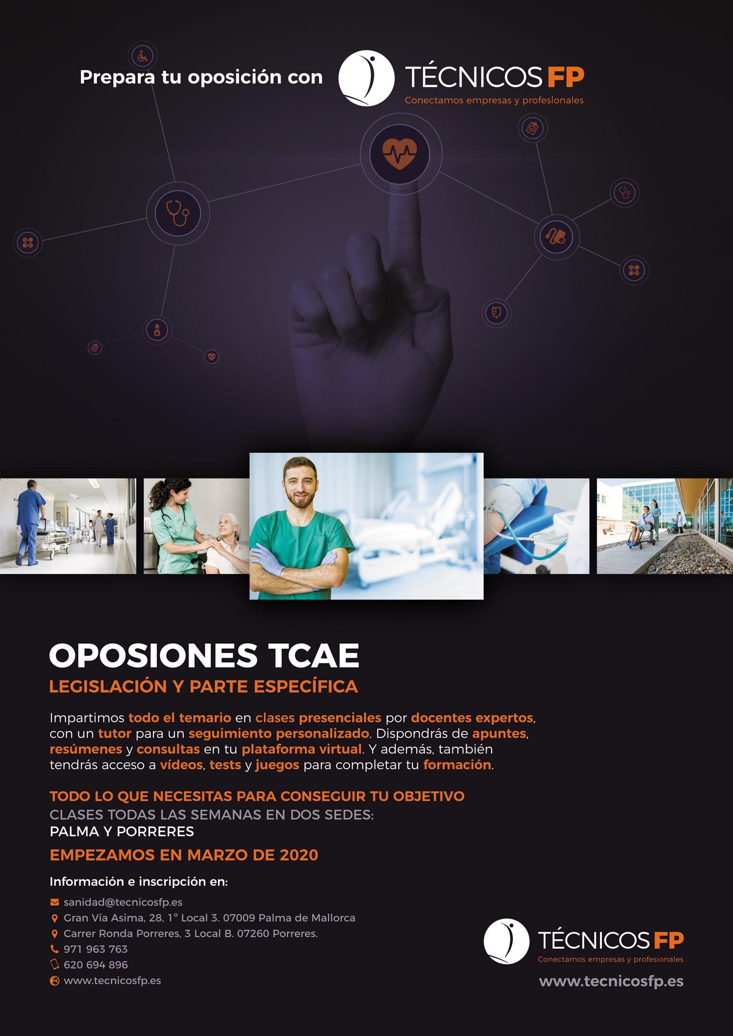 Técnicos FP - cartel oposiciones TCAE