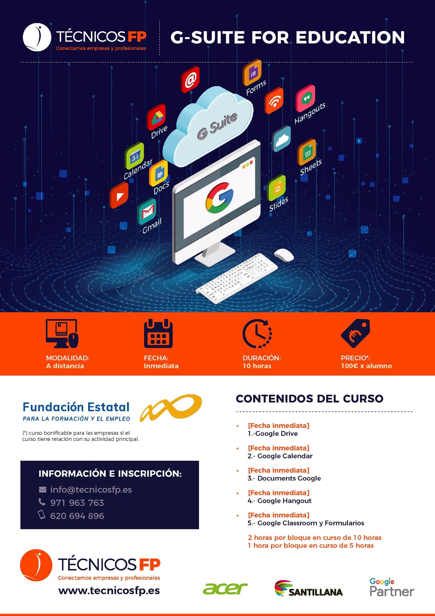 Técnicos FP - Promo - curso Google Suite For Education