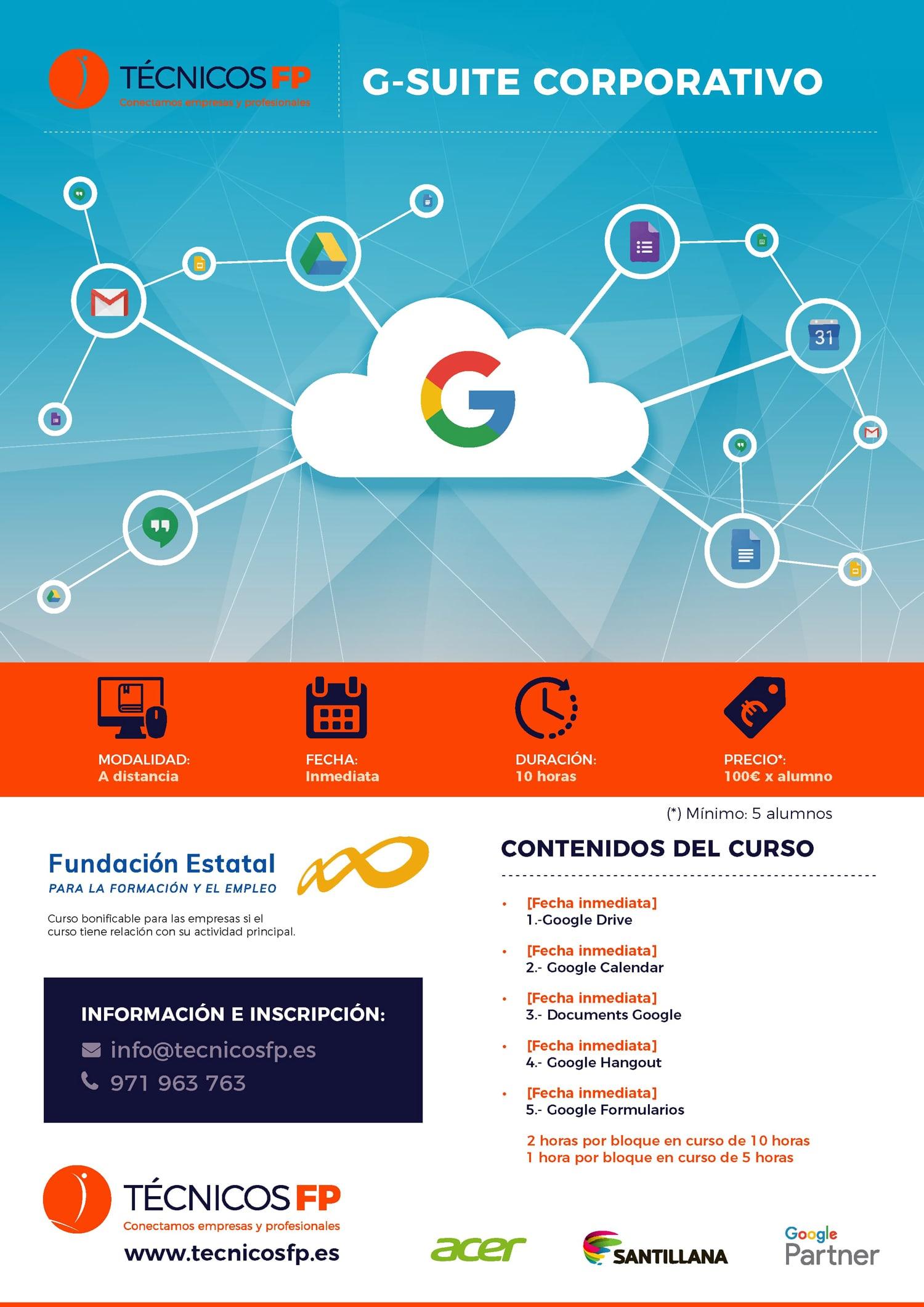 Técnicos FP - Promo - curso Google Suite For Education Corporativo