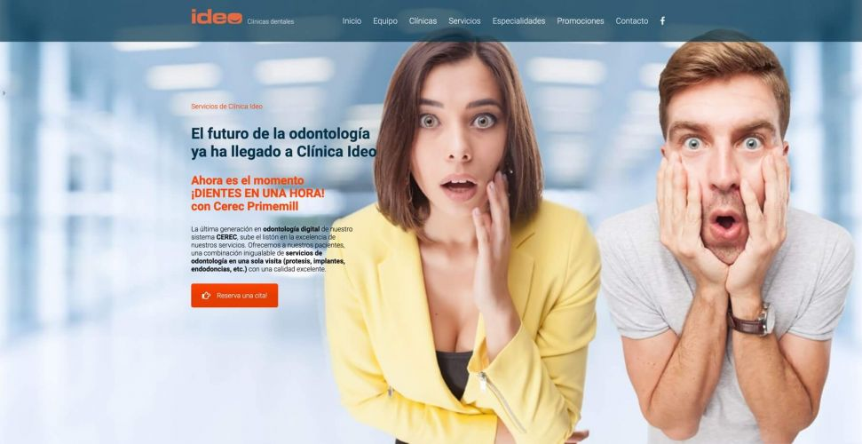 Diseño Web Clínica Dental Ideo