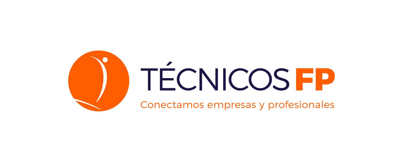 Logotipo de Técnicos FP, diseño horizontal