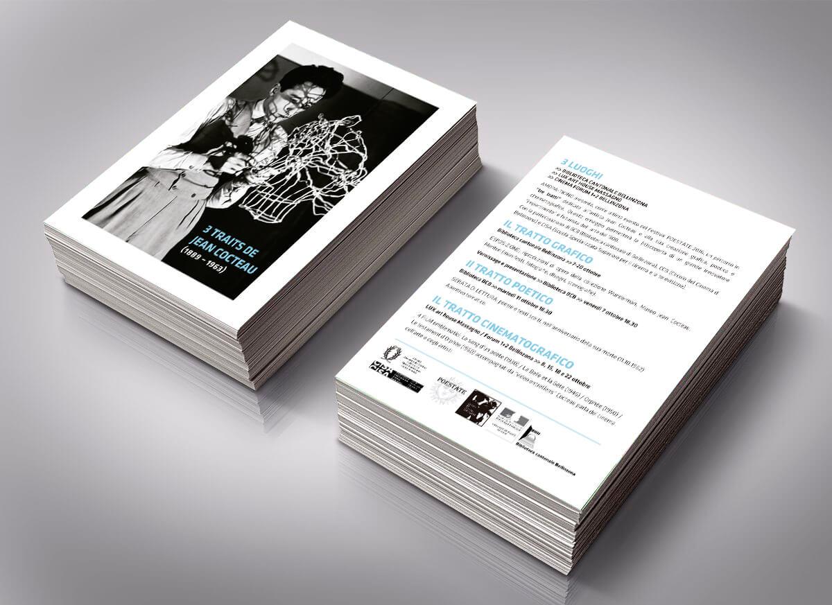 FESTIVAL POESTATE 2016 DEL TICINO - SUÍZA - folleto eventos- Monografico Jean Cocteau