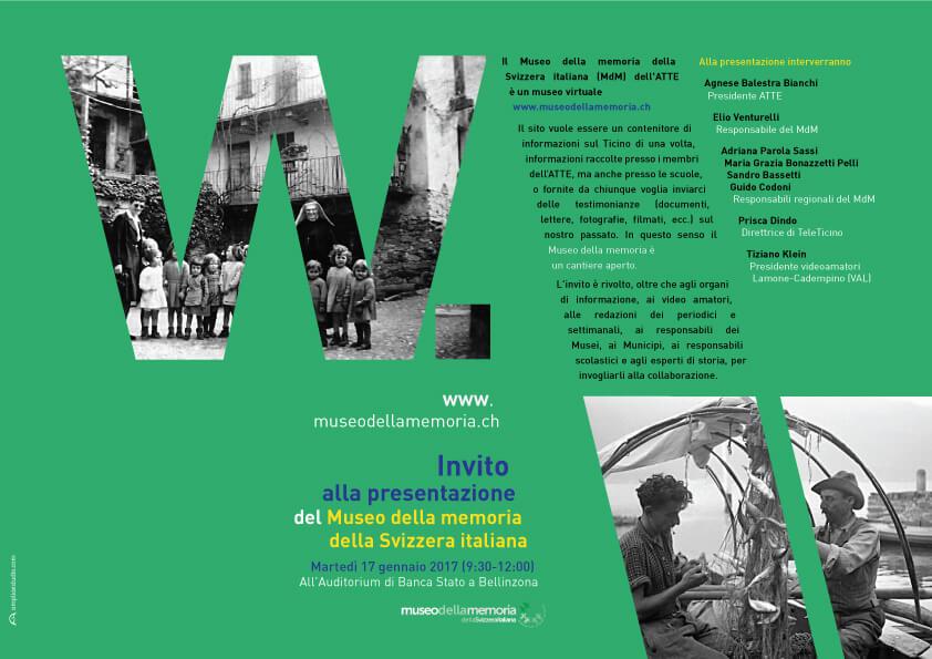 Diseño y comunicación para el Museo della memoria Svizzera italiana