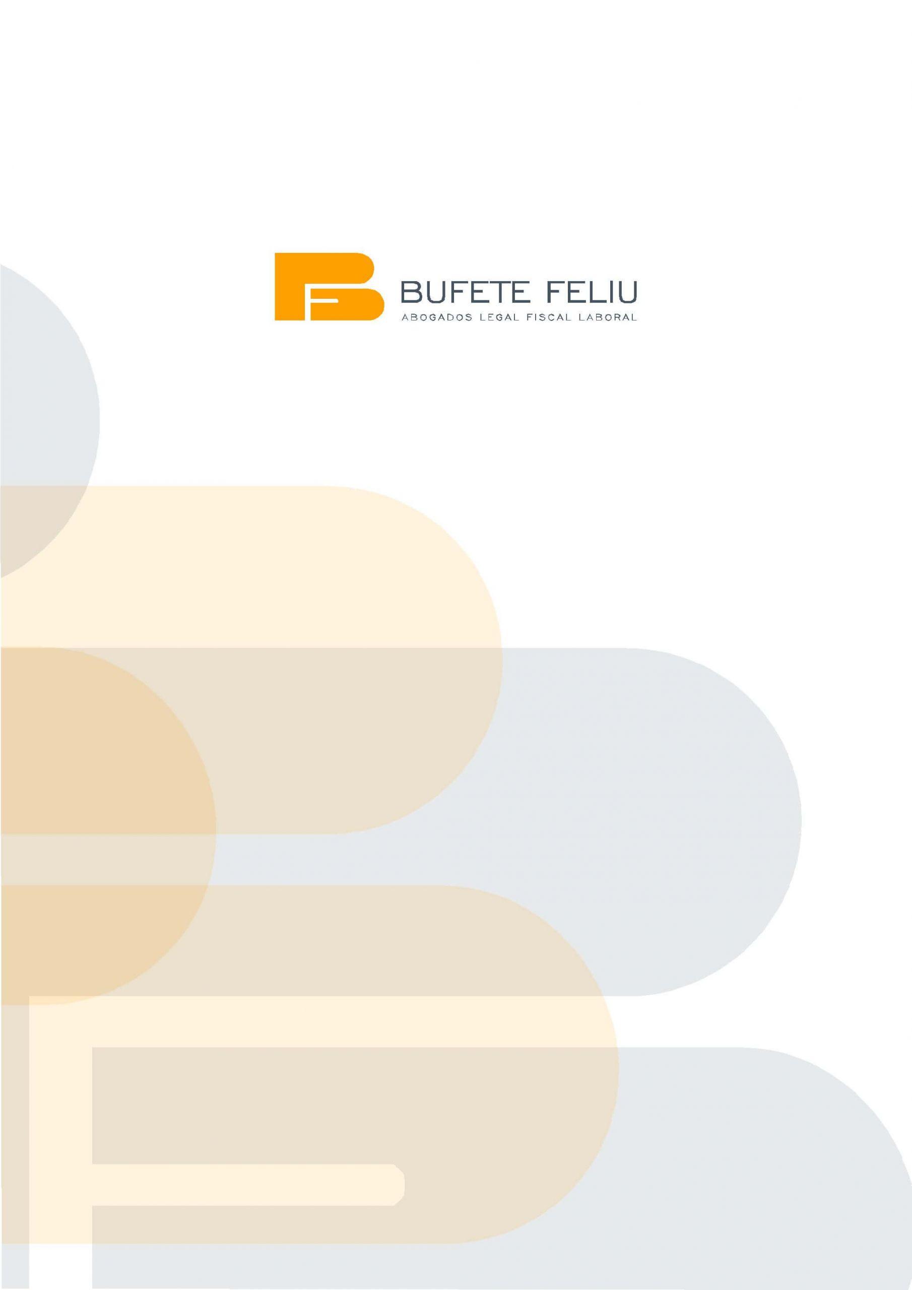 Diseño carpeta con solapa - Bufete Feliu
