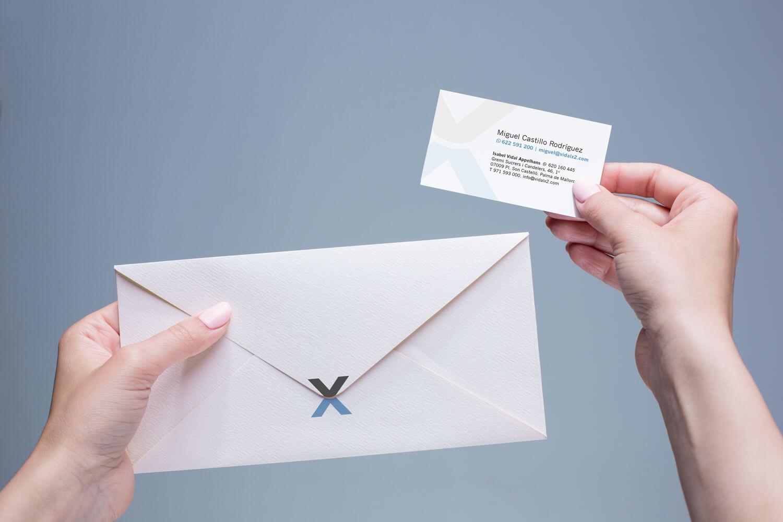 Diseño papeleria - Vidalx2 - Tarjeta visita - Miguel Castillo