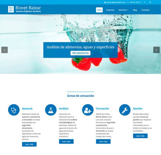 Diseño Web Biovet Balear – Asesoría Higiénico Sanitaria