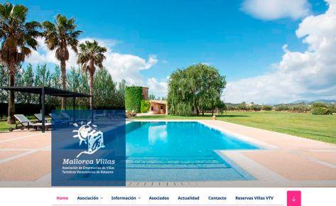 Diseño Web de Mallorca Villas – Asociación de Empresarios de Villas Turísticas de Baleares