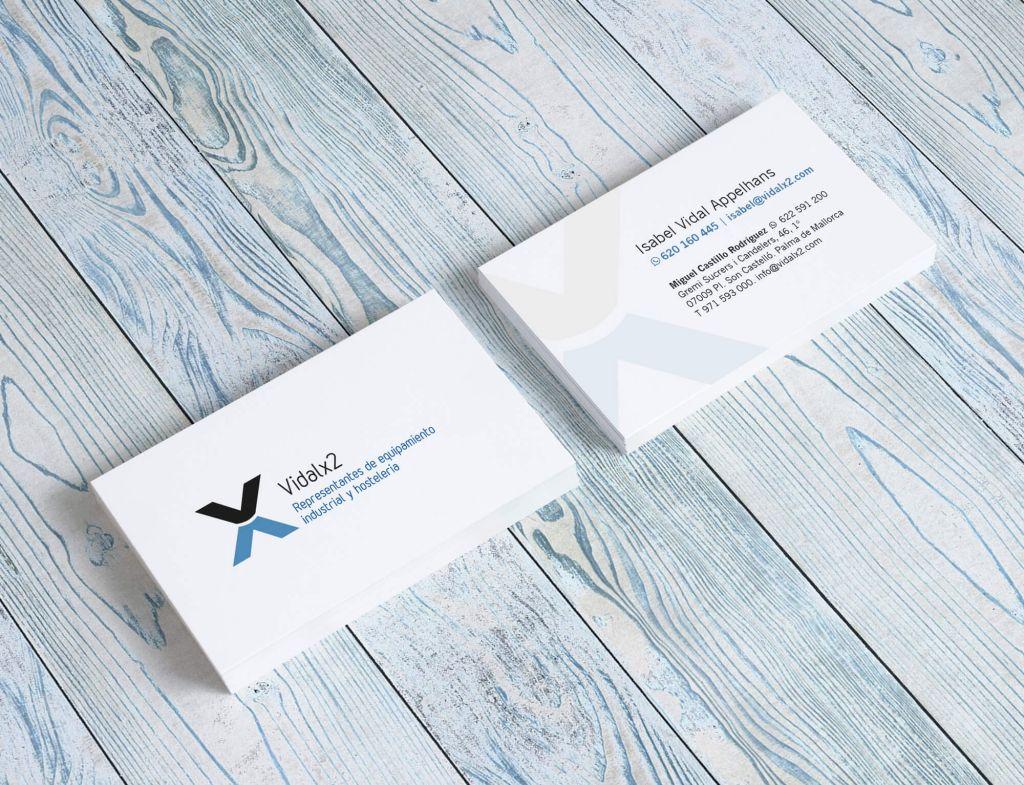 Diseño tarjetas de visita - Vidalx2