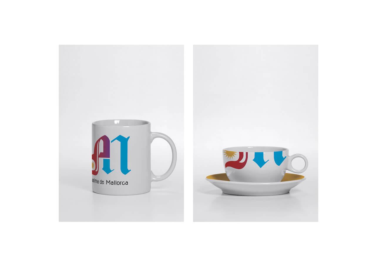 Merchandising-tazas - logo PM -Concurso Ajunt Palma - 2012