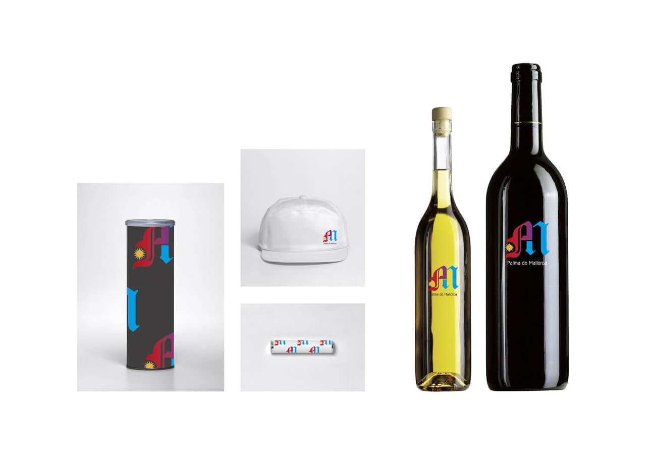 Merchandising variado - logo PM -Concurso Ajunt Palma - 2012