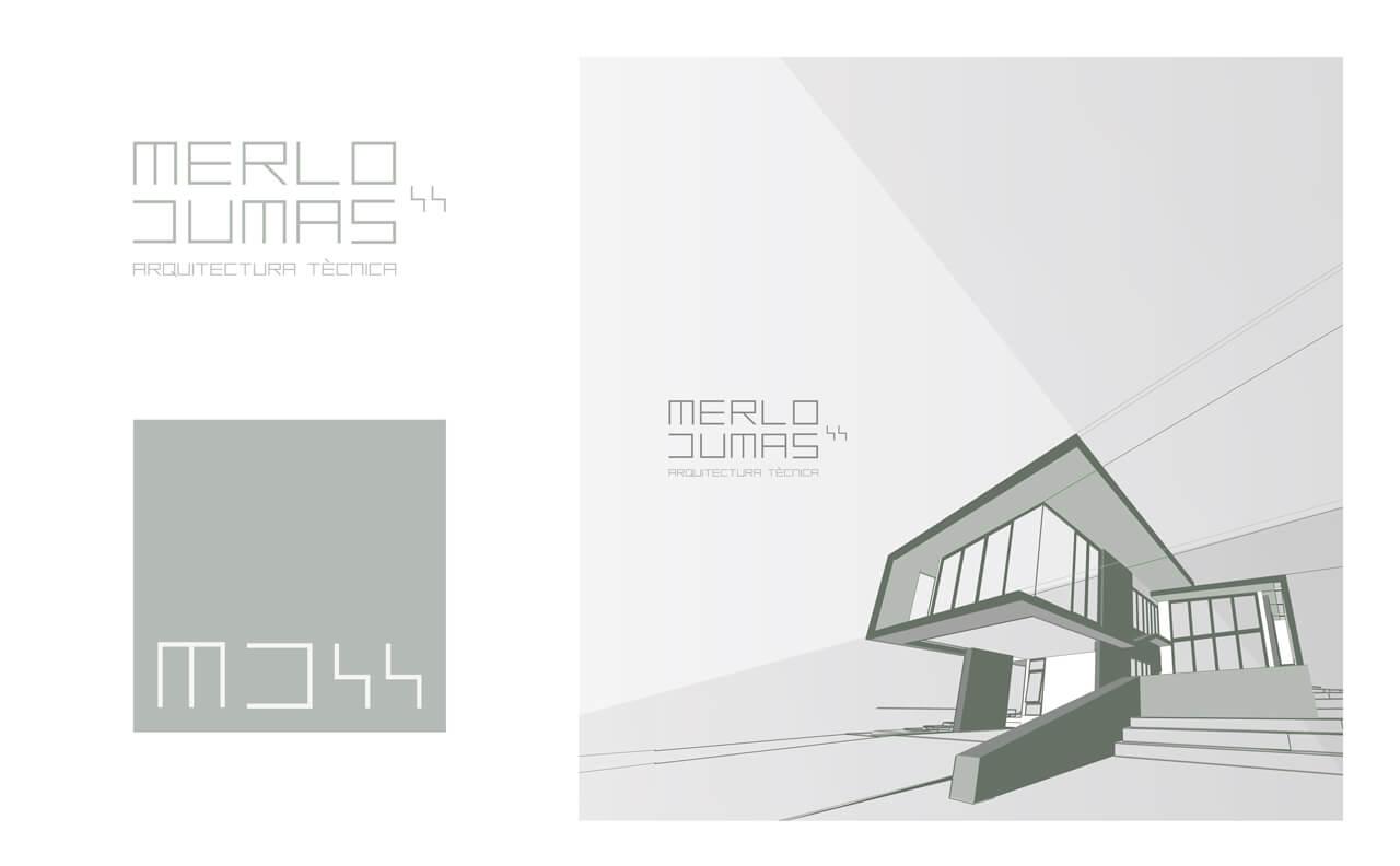 Tipografía e identidad corporativa -Merlo Dumas - Arquitecto tecnico